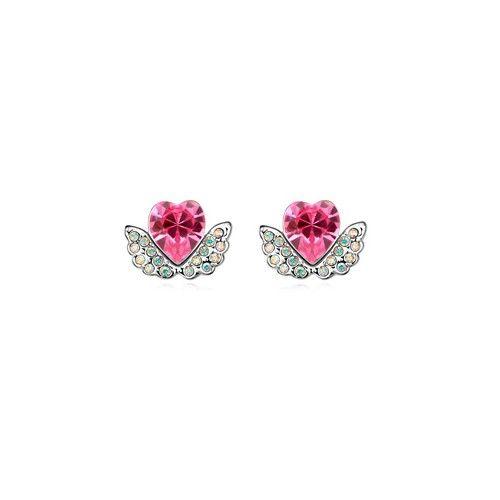 Angel Hearts Design Austrian Crystal Earrings - Pink