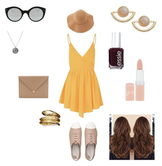 """Summer pt. 1"" by valerieyagoda on Polyvore featuring Glamorous, T+C by Theodora & Callum, Alexander Wang, Illesteva, FitFlop, Essie, Rimmel, Temple St. Clair, Sans Souci and women's clothing"