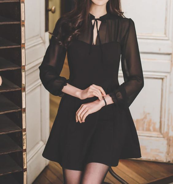 Buy Champi Long-Sleeved Mini Dress at YesStyle.com! Quality products at remarkable prices. FREE Worldwide Shipping available!
