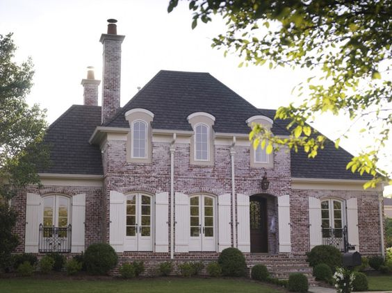 Inspired homes brick walls and french country on pinterest for French country brick exterior