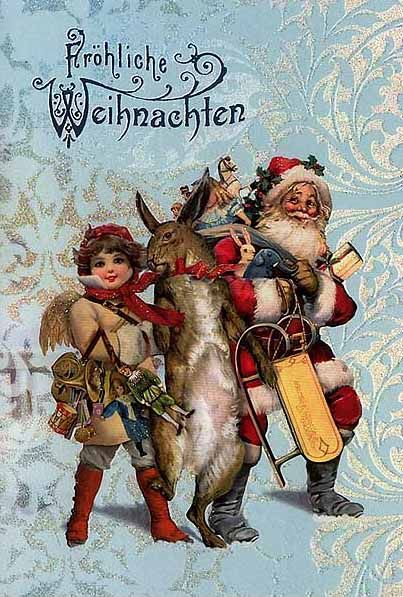 Santa Claus / St. Nick Christmas card from Germany