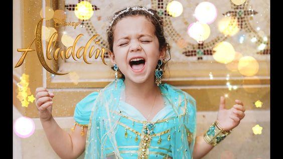 Speechless Disney S Aladdin 6 Year Old Sophie Fatu Youtube Disney Aladdin Aladdin And Jasmine Traditional Baby Wear