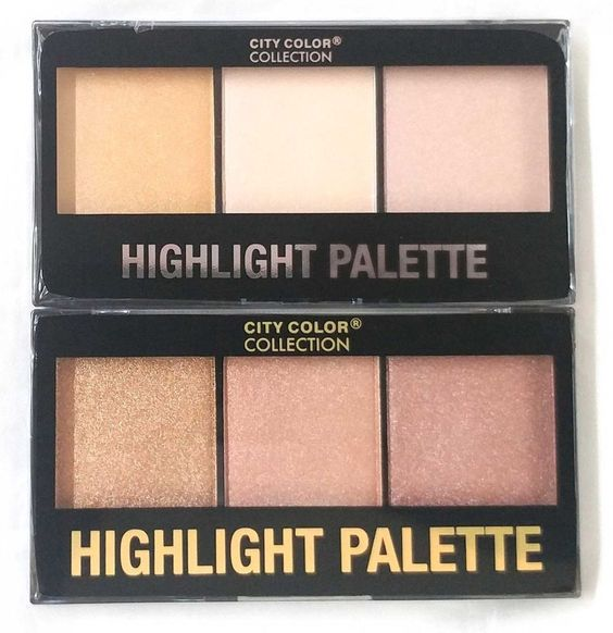 CITY COLOR Highlight Trio Pallet Highly Pigmented With Shimmer, Paraben Free #CITYCOLOR