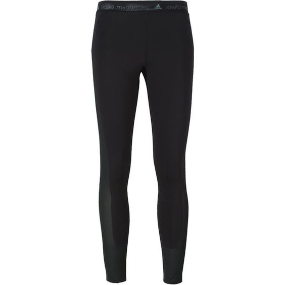 Adidas By Stella Mccartney Adizero Running Leggings ($60) ❤ liked on Polyvore featuring black and adidas
