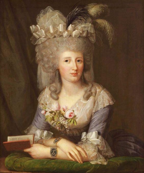1788 Bouffant coiffure worn by Caroline Juliane Albertine von Schlotheim, by Wilhelm Böttner:
