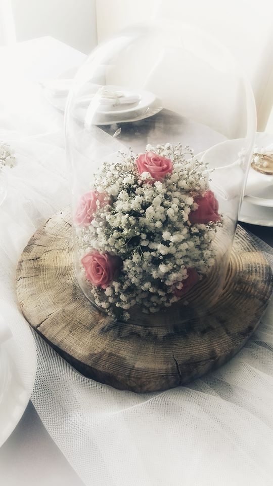Gipsowka I Roza Romantyczne Wesele Gypsophillia And Rose Romantic Wedding Table Decorations Decor Home Decor