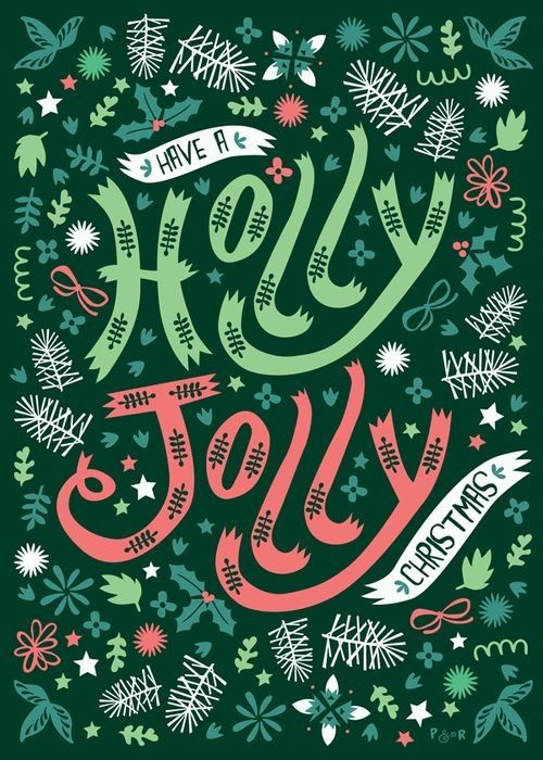 holly jolly typography - Google Search
