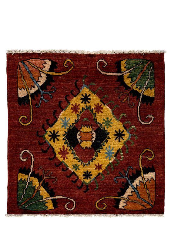 """Darya Rugs One-of-a-Kind Tribal Rug, Red, 5' 4"""" x 5' 3"""" $717.00"""