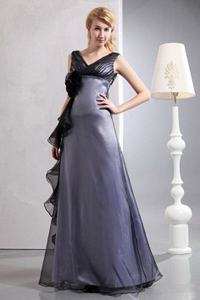 Classic A-Line V-Neck Mother Of Bride Dresses - Order Link: http://www.thebridalgowns.com/classic-a-line-v-neck-mother-of-bride-dresses-tbg3590 - SILHOUETTE: A-Line; SLEEVE: Sleeveless; LENGTH: Floor Length; FABRIC: Organza; EMBELLISHMENTS: Flower , Ruched , Ruffles - Price: 112USD