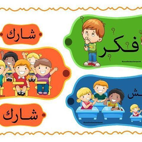 استراتيجية فكر ناقش شارك Learn Arabic Online Fish Crafts Learning Arabic