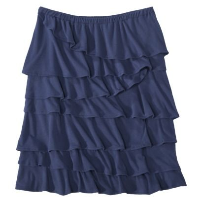 Merona® Women's Jersey Knit Ruffle Skirt - Assorted Colors