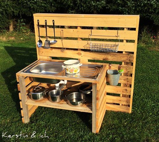 Kinder Küche Outdoor u2026 Pinteresu2026 - k che aus paletten bauen