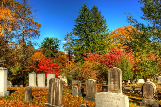 Fall and a peaceful cemetary
