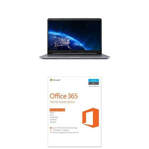 Asus Vivobook F510ua Fhd Laptop Intel Core I5 8250u Windows 10 Star Gray With Microsoft Office 365 Home 1 Year Subscription Microsoft Office Microsoft Computer Accessories