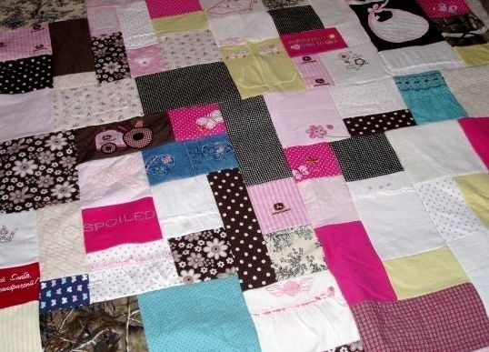I want to do this!  Baby clothes quilt!