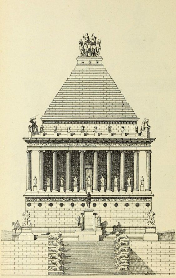 Hypothetical reconstruction of the Mausoleum of Halicarnassus