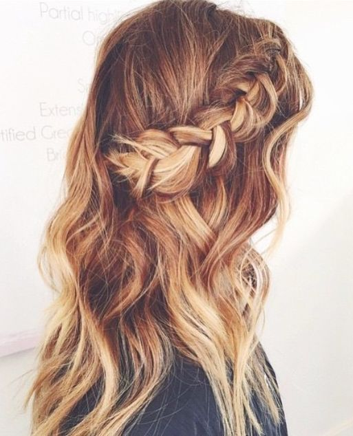 half up half down hairstyles for long hair : Braids, Side braids and Braided half up on Pinterest