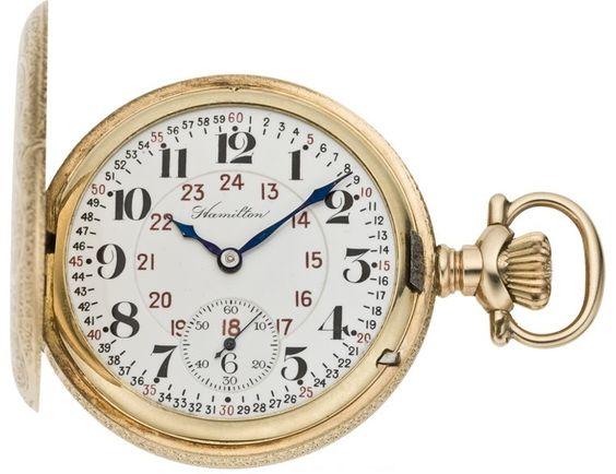Hamilton Vintage Gold Pocket Watch, circa 1903
