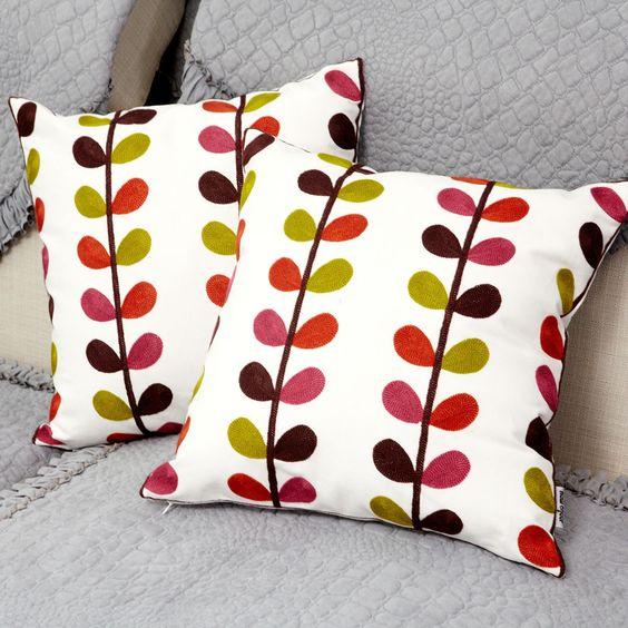 Cojines bordados la calidad del bordado hilo ofhead bolso suave almohada kaozhen oficina sof - Hacer cojines sofa ...