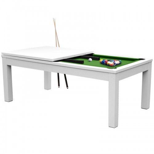 Table De Billard Convertible Blanche Tapis Vert Billards Billard Convertible Table De Billard Billard