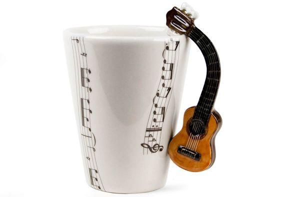 Amazon.de: Akustische Gitarre handgemachte Kaffeetasse (10cm x 8cm)