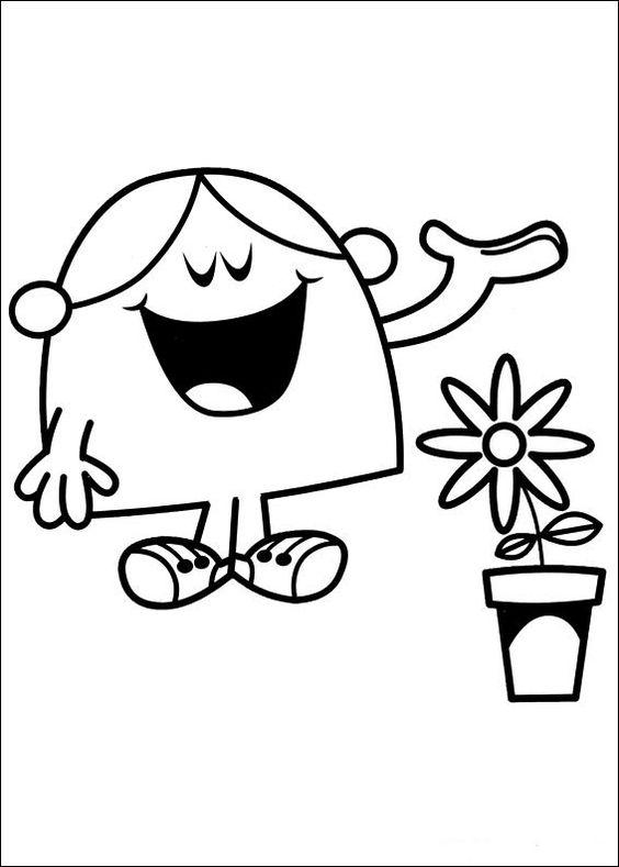 Mr. Men Tegninger til Farvelægning. Printbare Farvelægning for børn. Tegninger til udskriv og farve nº 66