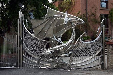 The Dragon gate at Harlech House in Dublin.