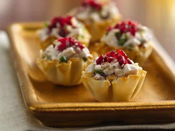 Cranberry-Chicken Fillo Cups