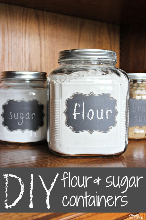 Diy gift idea flour and sugar storage containers gifts for Diy chalk labels
