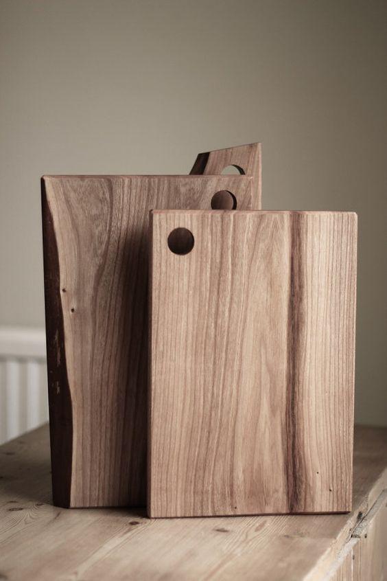 Elm Chopping / Cutting /serving Board By HeadandHaft On