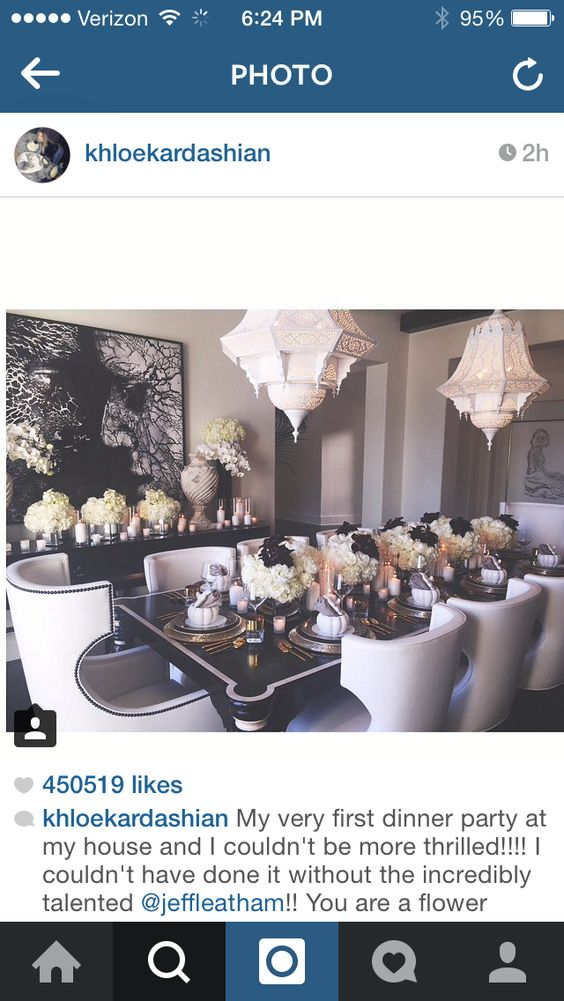 Super in love with Khloe Kardashian's 2014 thanksgiving table scape!