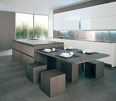 cocinas con islas modernas fotos de cocinas de madera modernas decorar disear