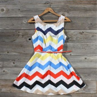 Zig Zag Falls Dress...how beautiful!! If I was brave orange tights, dark blue flats, orange lipstick, big tan sun hat, and beachy waves...LOL