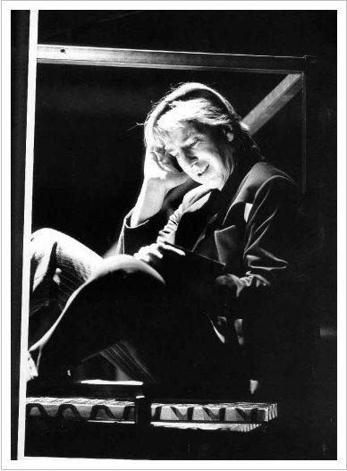 Alan Rickman as Hamlet, in 1992.: