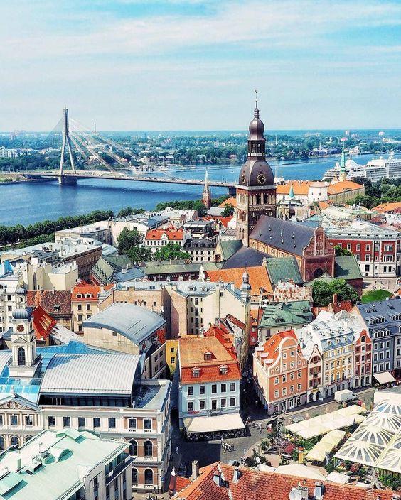 Riga Latvia [1080x1349] #city #cities #buildings #photography