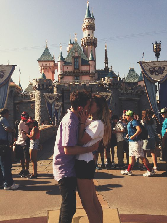 Who wouldn't want to kiss in front of a castle