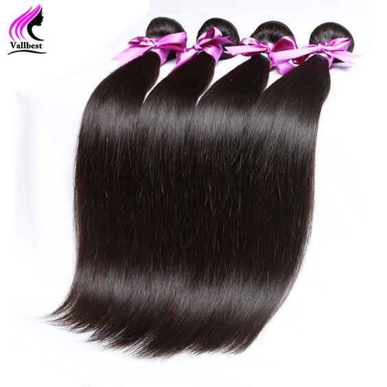 Cheveux brésiliens Armure Bundles Brésilien Vierge Cheveux Raides 5 Bundles de Cheveux Humains Bundles Aliexpress Extensions de Cheveux Brésiliens