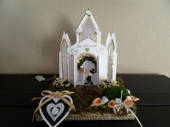 Geldgeschenke - Weiße Hochzeitskirche mit Beleuchtung ! - ein Designerstück von INGE54 bei DaWanda