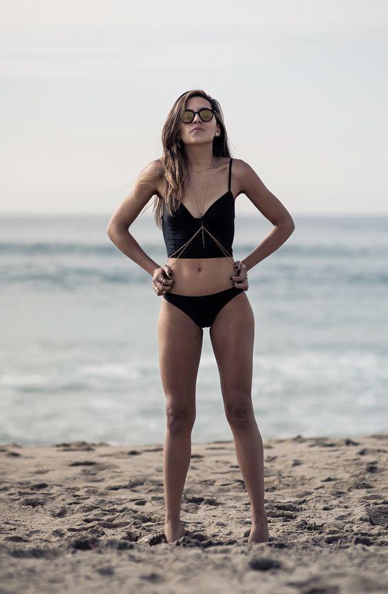 Crop top bathing suit / biquíni cropped