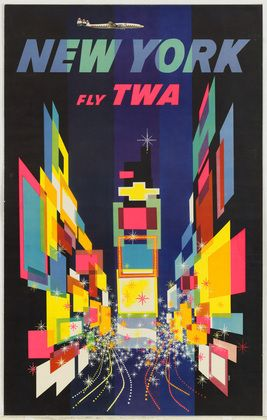 David Klein. New York Fly TWA. 1956