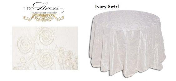Ivory Swirl - I Do Linens