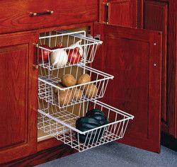vegetable baskets for cabinets