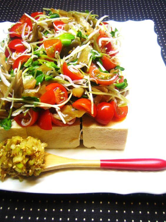 ザーサイとかいわれのお豆腐サラダ