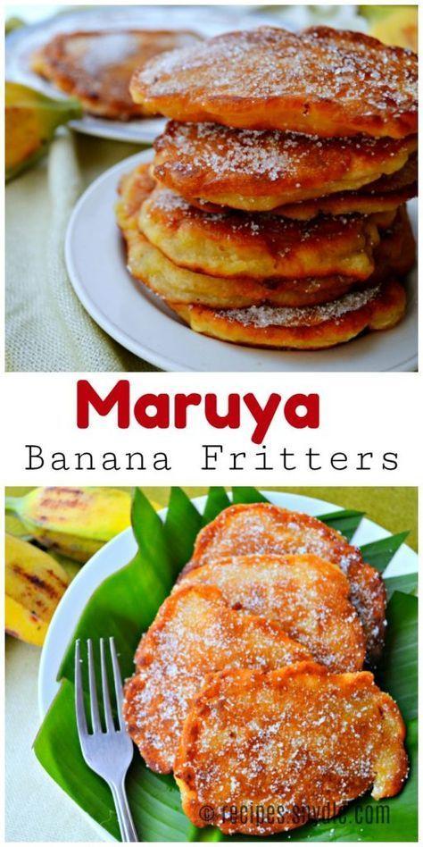 maruya banana fritters recipe yummy recipes haitian food recipes banana fritters filipino food dessert pinterest
