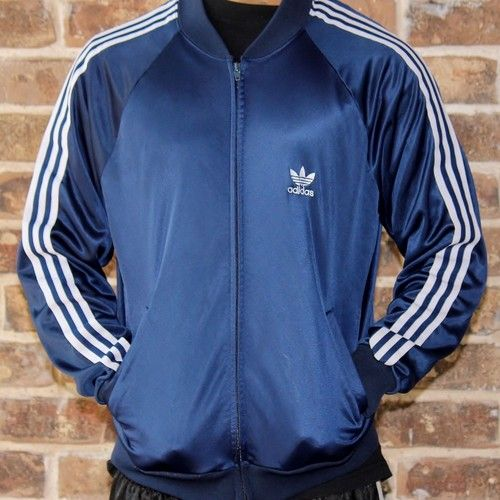 NOW THAT&39S OLD SCHOOL! 1980s ADIDAS BLUE JACKET RUN DMC HIP HOP