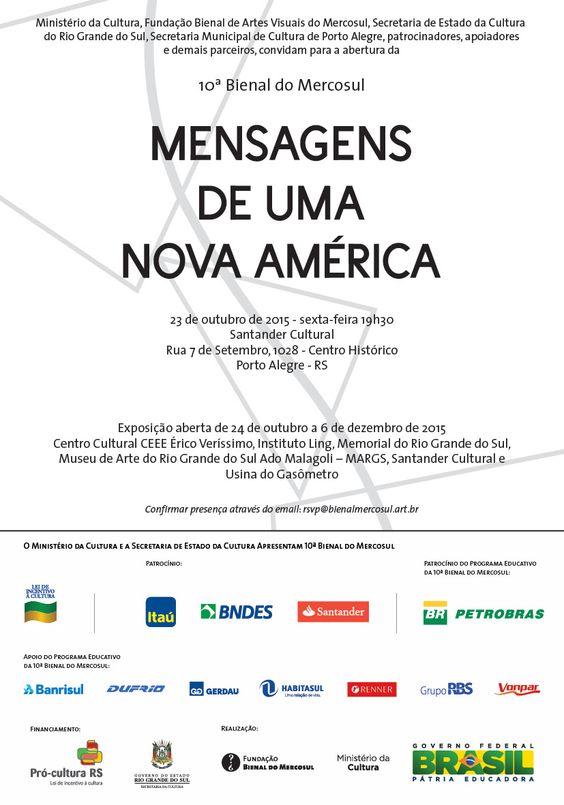 Mensagem de uma Nova América - Bienal do Mercosul 2015 !
