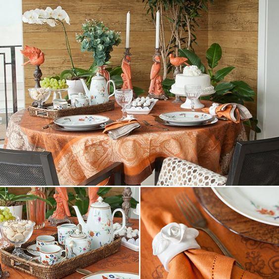 Mesa posta. Decor de outono, tableware. decoração mesa. Outono. Inverno. Composição de Cores. Detalhes da bandeja.