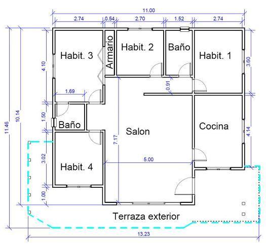 Cómo Medir Una Cocina Planos De Casas Economicas Planos De Casas Prefabricadas Planos De Casas Sencillas