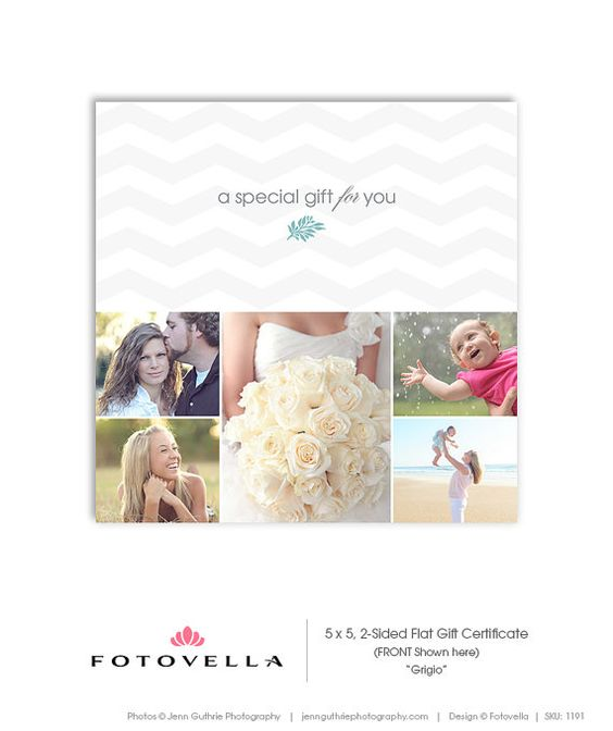 Photography Gift Certificate Template for by OtoStudio on Etsy – Photography Gift Certificate Template