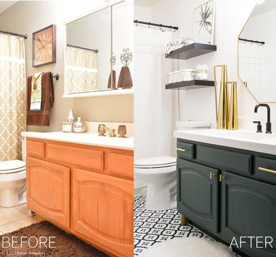 Modern Guest Bathroom Renovation on a Budget – One Room Challenge REVEAL #remodelingcosts